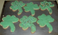 Shamrock St. Patrick's Day Cookies